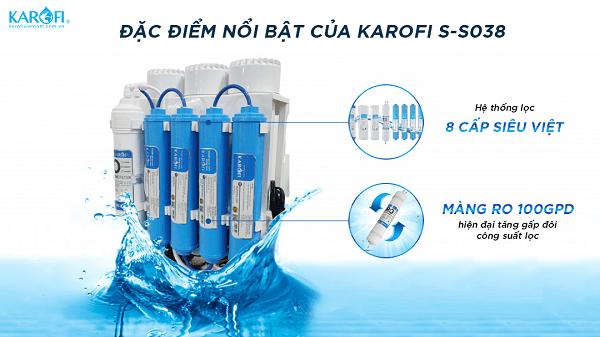 Máy lọc nước Karofi Slim S-s038
