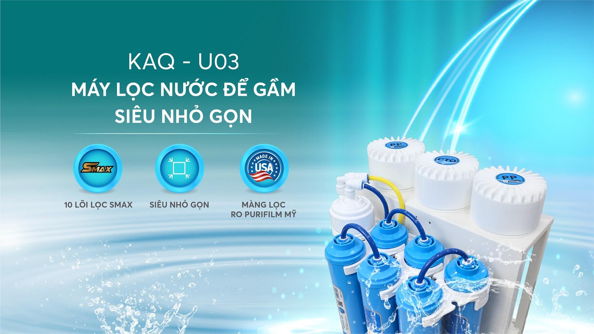 MÁY LỌC NƯỚC KAROFI KAQ-U03 - 10 lõi Hydrogen