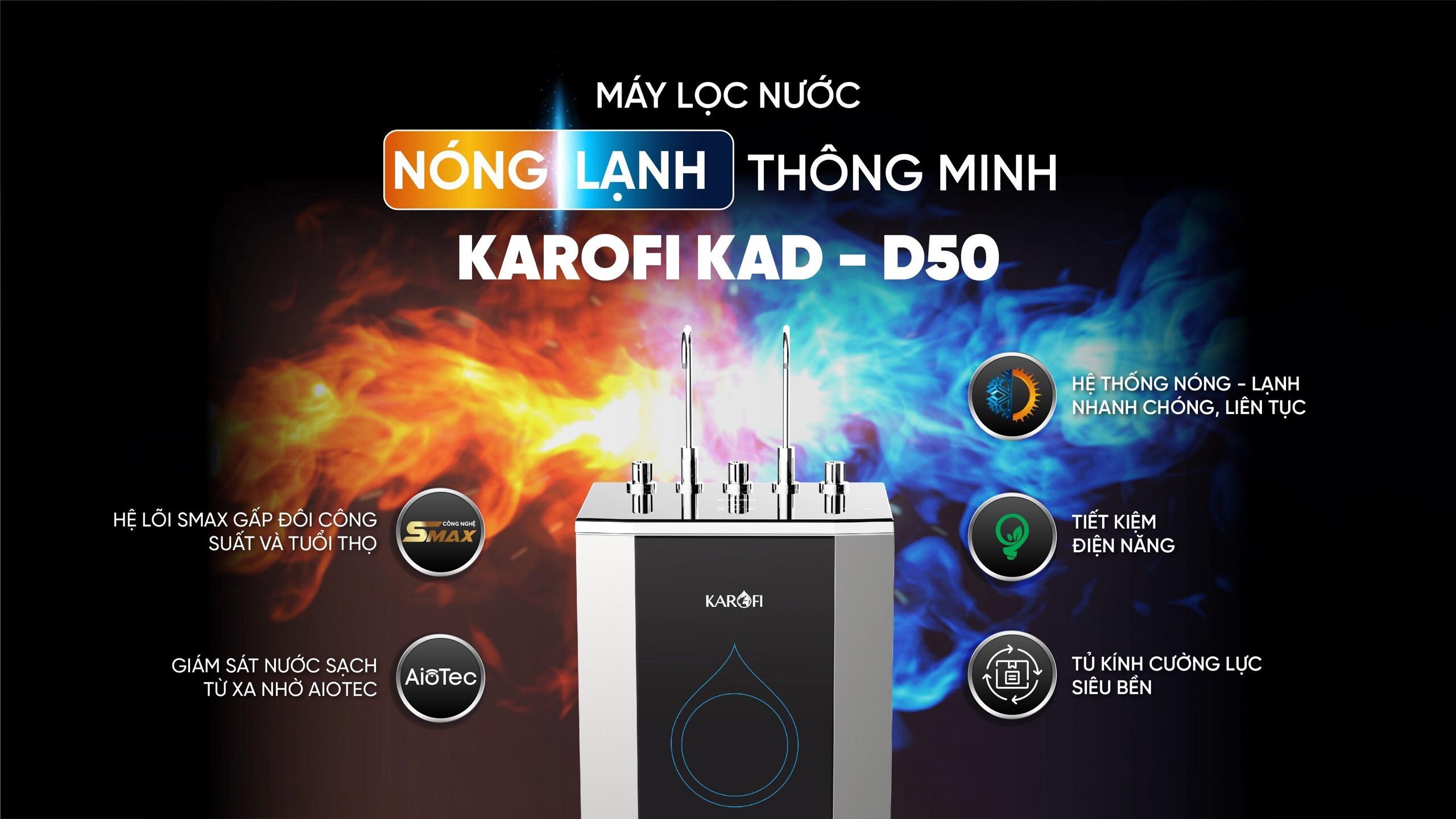 ĐẶT TRƯỚC - RƯỚC QUÀ HỜI: Đặt trước máy lọc nước nóng-lạnh D50 tặng ngay bếp từ KoriHome 1,420,000Đ